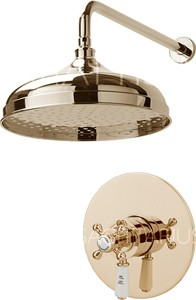 Sagittarius Kensington Shower Valve With Arm & 300mm Head (Gold).