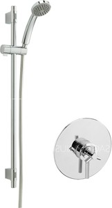 Sagittarius Zone Concealed Shower Valve With Slide Rail Kit (Chrome).