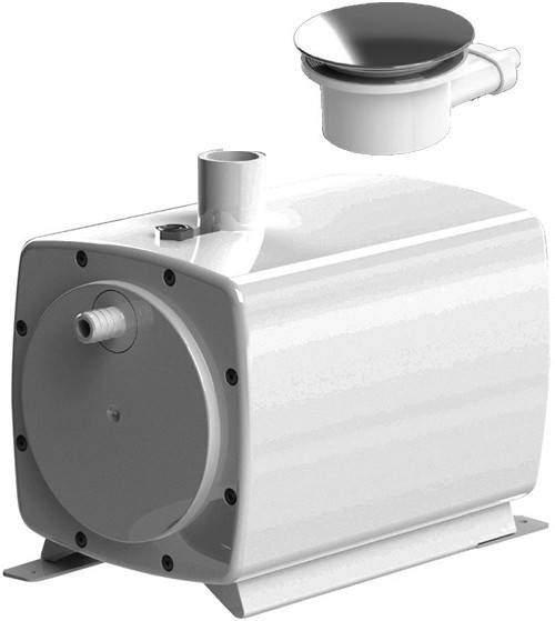 Sanifloor 3 Wetroom Shower Pump With Round Gully Saniflo Sf Sanifloor3