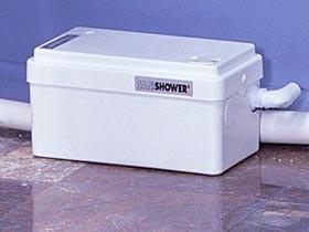Saniflo Sanishower macerator for shower and basin.