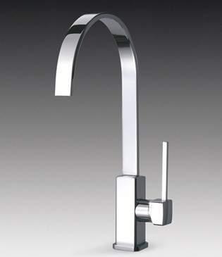Smeg Taps Imola Single Lever Kitchen Tap With Water Saving Valve.