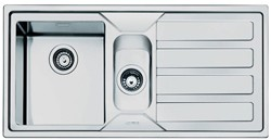 Smeg Sinks Mira 1.5 Bowl Sink With Right Hand Drainer (Stainless Steel).