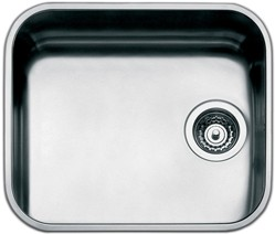 Smeg Sinks 1.0 Bowl Stainless Steel Undermount Kitchen Sink. 450mm.