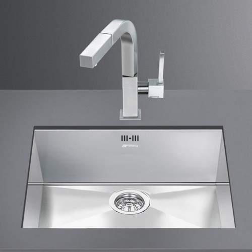 Smeg Sinks Quadra Undermount Kitchen Sink 400x500mm (S Steel).