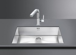 Smeg Sinks Quadra Undermount Kitchen Sink 720x400mm (S Steel).