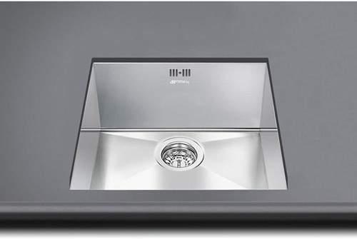 Smeg Sinks Mira Undermount Kitchen Sink 340x400mm (S Steel).