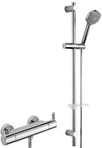 Tre Mercati Vamp Thermostatic Bar Shower Valve With Slide Rail Kit.