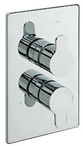 Tre Mercati Lollipop Thermostatic Twin Shower Valve (Chrome).