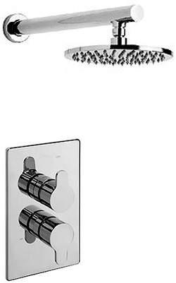 Tre Mercati Vamp Thermostatic Twin Shower Valve With Head & Arm.