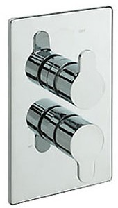 Tre Mercati Lollipop Thermostatic 2 Way Twin Shower Valve (Chrome).