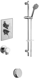 Tre Mercati Lollipop Twin Thermostatic Shower Valve With Slide Rail & Bath Filler.