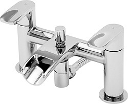Tre Mercati Ora Waterfall Bath Shower Mixer Tap With Shower Kit (Chrome).