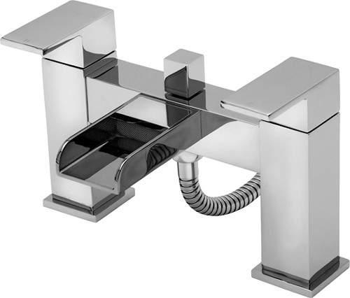 Tre Mercati Geysir Waterfall Bath Shower Mixer Tap With Shower Kit.