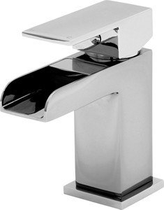 Tre Mercati Geysir Waterfall Basin Mixer Tap With Click Clack Waste.