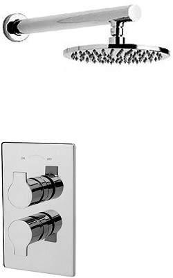 Tre Mercati Ora Thermostatic Twin Shower Valve Wtih Head & Arm.