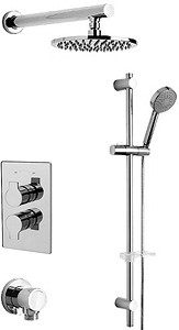 Tre Mercati Ora Twin Thermostatic Shower Valve With Slide Rail & Head.