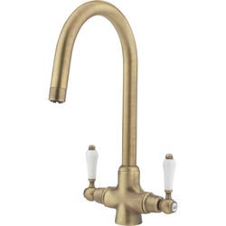 Tre Mercati Kitchen Little Venice Kitchen Tap With Swivel Spout (Brass).