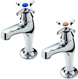 Tre Mercati Kitchen Capri High Neck Kitchen Taps With Cross Heads (Chrome).