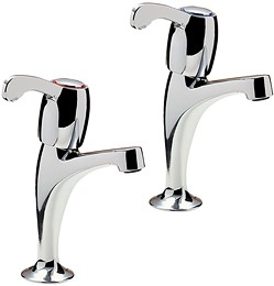 Tre Mercati Kitchen Capri High Neck Kitchen Taps With Lever Heads (Chrome).