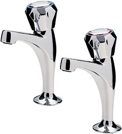 Tre Mercati Kitchen Capri High Neck Kitchen Taps With Italy Heads (Chrome).