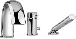 Tre Mercati Bella 3 Hole Bath Shower Mixer Tap With Shower Kit (Chrome).