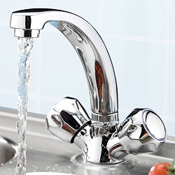 Tre Mercati Kitchen Capri Mixer Kitchen Tap With Italy Heads (Chrome).