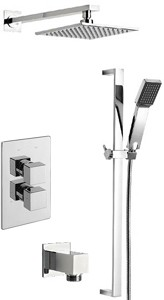 Tre Mercati Geysir Twin Thermostatic Shower Valve With Slide Rail & Head.