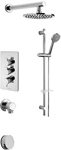 Tre Mercati Angle Thermostatic 3 Way Shower Set (Chrome).