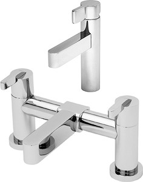 Tre Mercati Cabana Basin & Bath Filler Tap Set (Chrome).