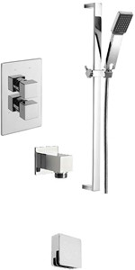Tre Mercati Dance Twin Thermostatic Shower Valve With Slide Rail & Bath Filler.