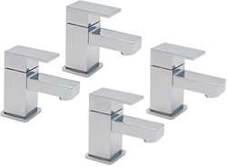 Tre Mercati Edge Bath & Basin Taps Set (Chrome).