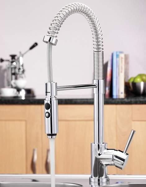 Tre Mercati Kitchen Cappuccino Kitchen Tap With Flexible Spray.