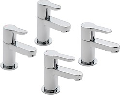 Tre Mercati Lollipop Bath & Basin Taps Set (Chrome).