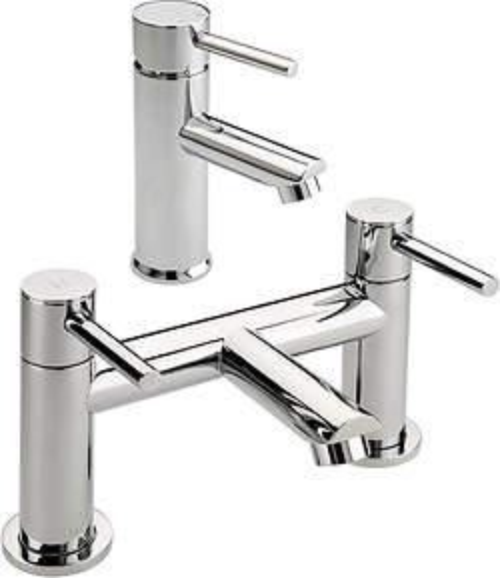 Tre Mercati Poppy Bath Filler & Basin Tap Set (Chrome).