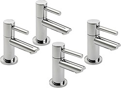 Tre Mercati Poppy Bath & Basin Taps Set (Chrome).