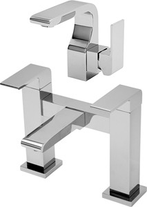 Tre Mercati Rubik Basin & Bath Filler Tap Set (Chrome).