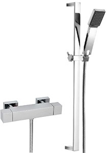 Tre Mercati Rubik Thermostatic Bar Shower Valve With Slide Rail Kit.