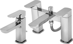 Tre Mercati Vamp Basin & Bath Shower Mixer Tap Set (Chrome).