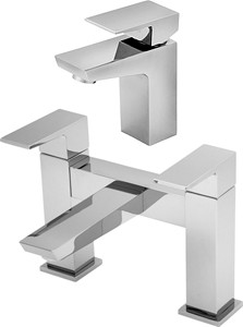 Tre Mercati Wilde Basin & Bath Filler Tap Set (Chrome).