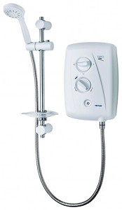 Triton Showers T80Z Fast Fit Electric Shower, 7.5kW (White & Chrome).