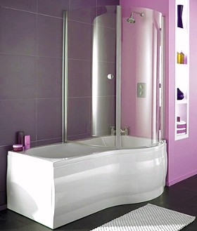 complete shower bath right hand 1700x750mm thames ts shbr burlington hampton traditional shower bath uk bathrooms