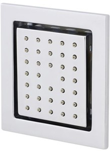 Ultra Showers 1 x Adjustable Square Body Jet (Flush To Wall).