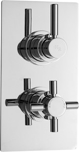 Hudson Reed Tec Pura twin concealed thermostatic valve with diverter