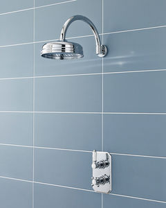 Pioneer Traditional Thermostatic Shower Valve & Round Head (Polymer).