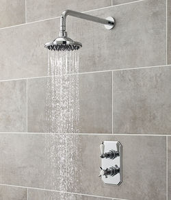 Ultra Showers Traditional Thermostatic Shower Valve With Round Head (Chrome).