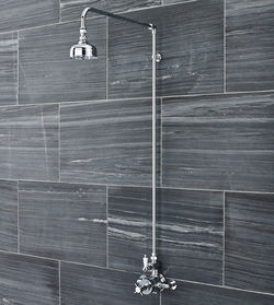 Ultra Showers Traditional Exposed Thermostatic Shower Valve & Riser Kit.