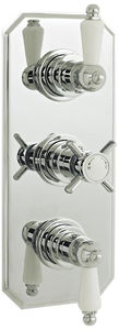 Ultra Showers Traditional Thermostatic Triple Concealed Shower Valve.