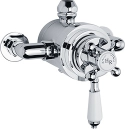 Hudson Reed Traditional Dual exposed thermostatic shower valve.