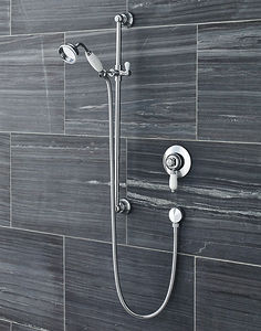 Ultra Showers Traditional Manual Concealed Shower Valve & Slide Rail Kit.