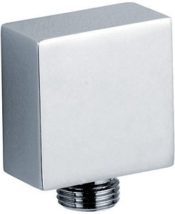 Component Square Shower Outlet Elbow (Chrome).